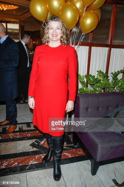 German actress Birge Schade attends the Blaue Blume Awards 2018 at Grosz on February 14 2018 in Berlin Germany