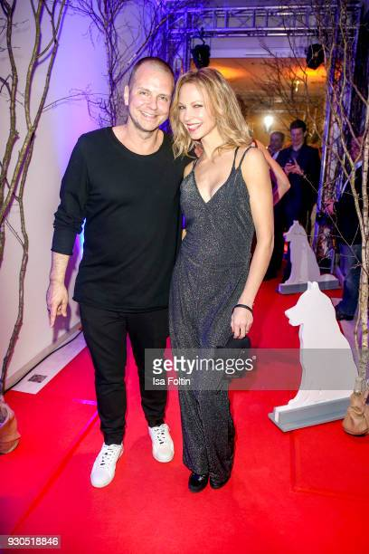 German actress Birte Glang and her partner Andre Tegeler alias DJ Moguai during the 'Baltic Lights' charity event on March 10 2018 in Heringsdorf...