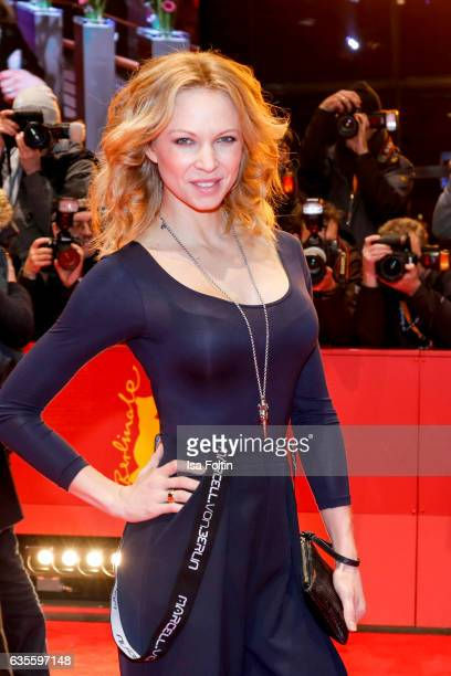 German actress Birte Glang attends the 'Return to Montauk' premiere during the 67th Berlinale International Film Festival Berlin at Berlinale Palace...