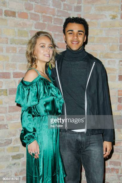 German actress Caro Cult and German actor Langston Uibel during the Bunte New Faces Night at Grace Hotel Zoo on January 15 2018 in Berlin Germany