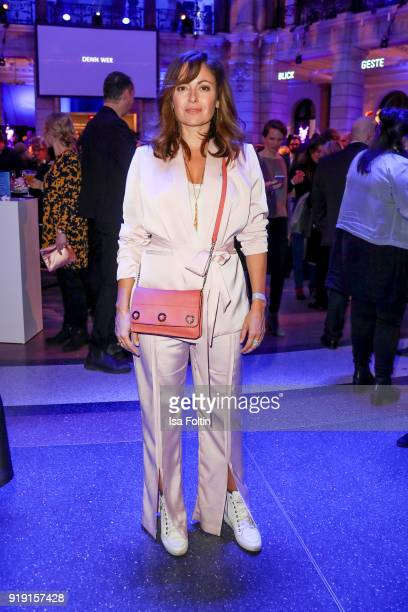 German actress Carolina Vera attends the Blue Hour Reception hosted by ARD during the 68th Berlinale International Film Festival Berlin on February...