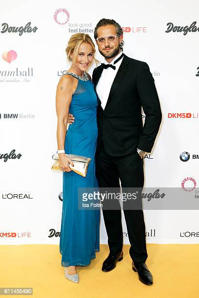 German actress Caroline Beil and her boyfriend Philpp Sattler attend the Dreamball 2016 at Ritz Carlton on September 29 2016 in Berlin Germany
