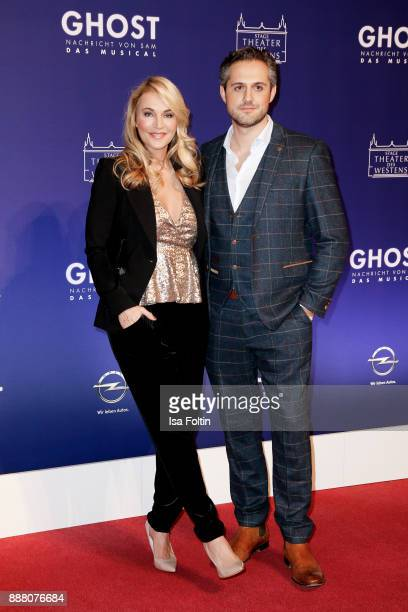 German actress Caroline Beil and her partner Philipp Sattler during the premiere of 'Ghost Das Musical' at Stage Theater on December 7 2017 in Berlin...