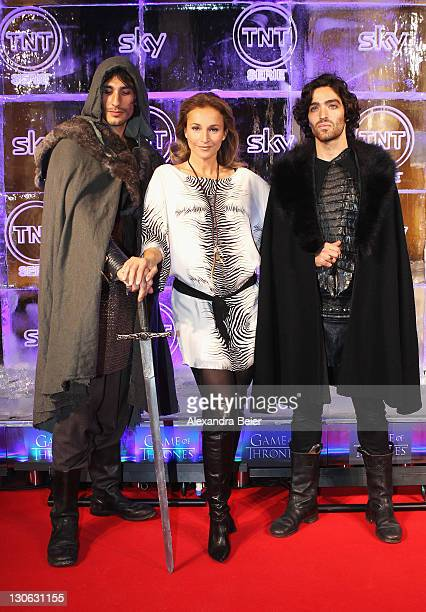 German actress Caroline Beil attends 'Games of Thrones' Preview Event of TNT Serie and Sky at Hotel Bayerischer Hof on October 27, 2011 in Munich,...