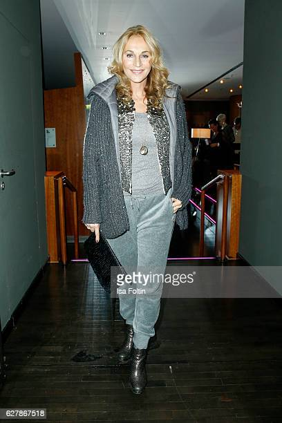 German actress Caroline Beil attends the 1st Anniversary Celebration Of Berlin Blonds on December 5 2016 in Berlin Germany