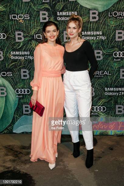 German actress Caroline Hartig and German actress Zsa Zsa Inci Buerkle attend the Place To B PreBerlinaleDinner at Restaurant Tim Raue on February 18...