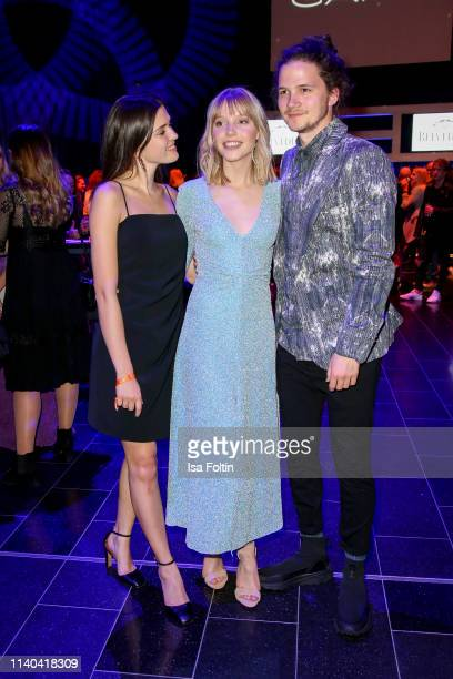 German actress Caroline Hartig German actress and singer Lina Larissa Strahl and her boyfriend German actor Tilman Poerzgen attend the annual Young...