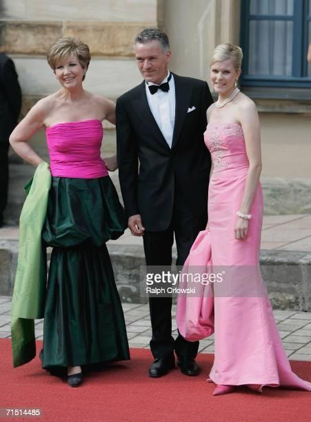 German actress Caroline Reiber and her husband Dr Luitpold Maier arrive for the opening performance of Richard Wagner's Der fliegende Hollaender on...