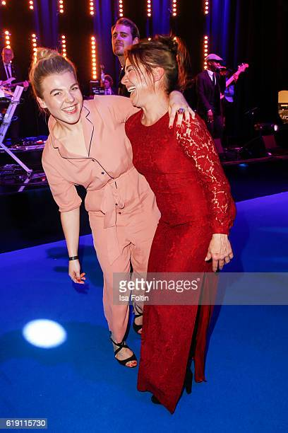 German actress Charley Ann Schmutzler and her mother german actress Claudia Schmutzler during the aftershow party at the Goldene Henne on October 28...