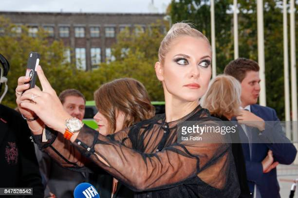 German actress Cheyenne Pahde attends the UFA 100th anniversary celebration at Palais am Funkturm on September 15 2017 in Berlin Germany