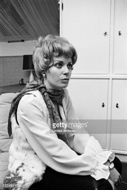 German actress Christiane Krueger, Germany, 1960s.
