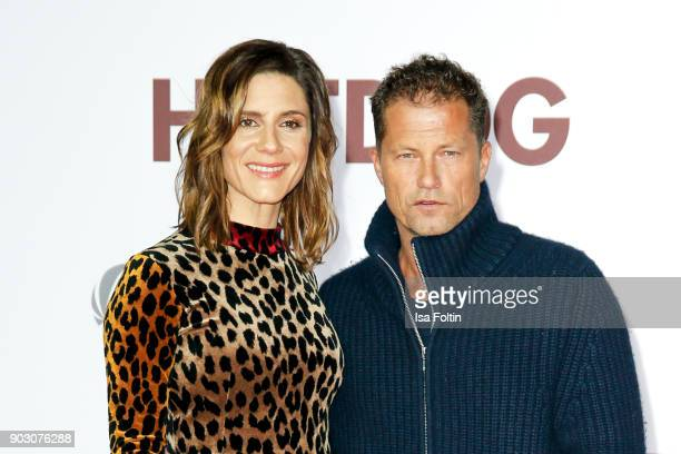 German actress Christina Hecke and German actor and producer Til Schweiger attend the 'Hot Dog' world premiere at CineStar on January 9 2018 in...