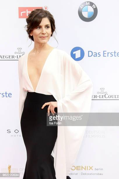 German actress Christina Hecke attends the Lola German Film Award red carpet at Messe Berlin on April 27 2018 in Berlin Germany