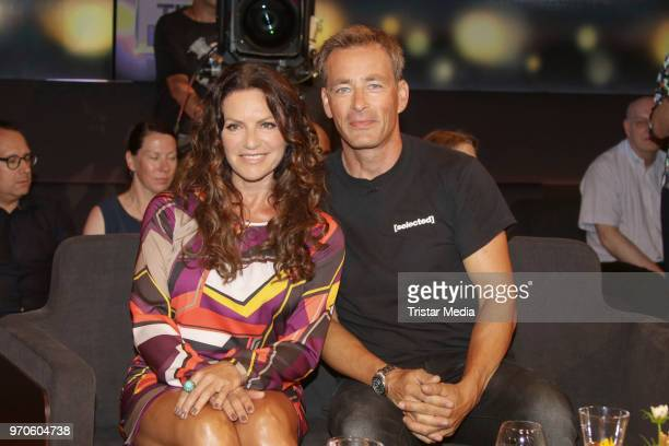German actress Christine Neubauer and German actor Jan Sosniok during the 'Tietjen und Bommes' photo call on June 8 2018 in Hamburg Germany