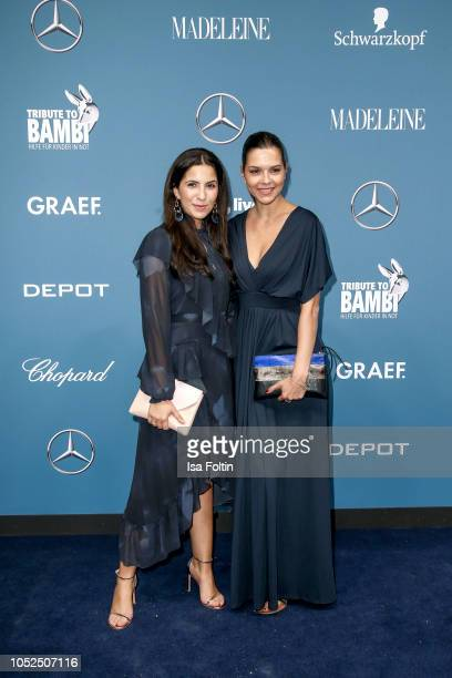 German actress Chryssanthi Kavazi and German actress Susan Hoecke during the Tribute To Bambi at Kraftwerk Mitte on October 18 2018 in Berlin Germany