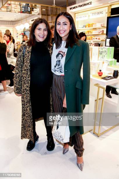 German actress Chryssanthi Kavazi and German presenter Melissa Khalaj attend the Douglas FlagshipStore Opening on October 30 2019 in Berlin Germany