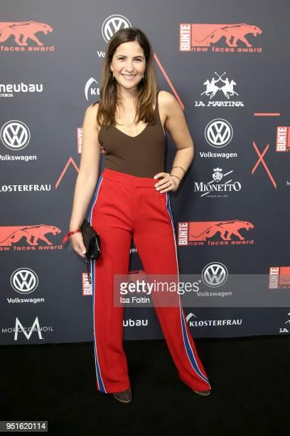 German actress Chryssanthi Kavazi attends the New Faces Award Film at Spindler Klatt on April 26 2018 in Berlin Germany
