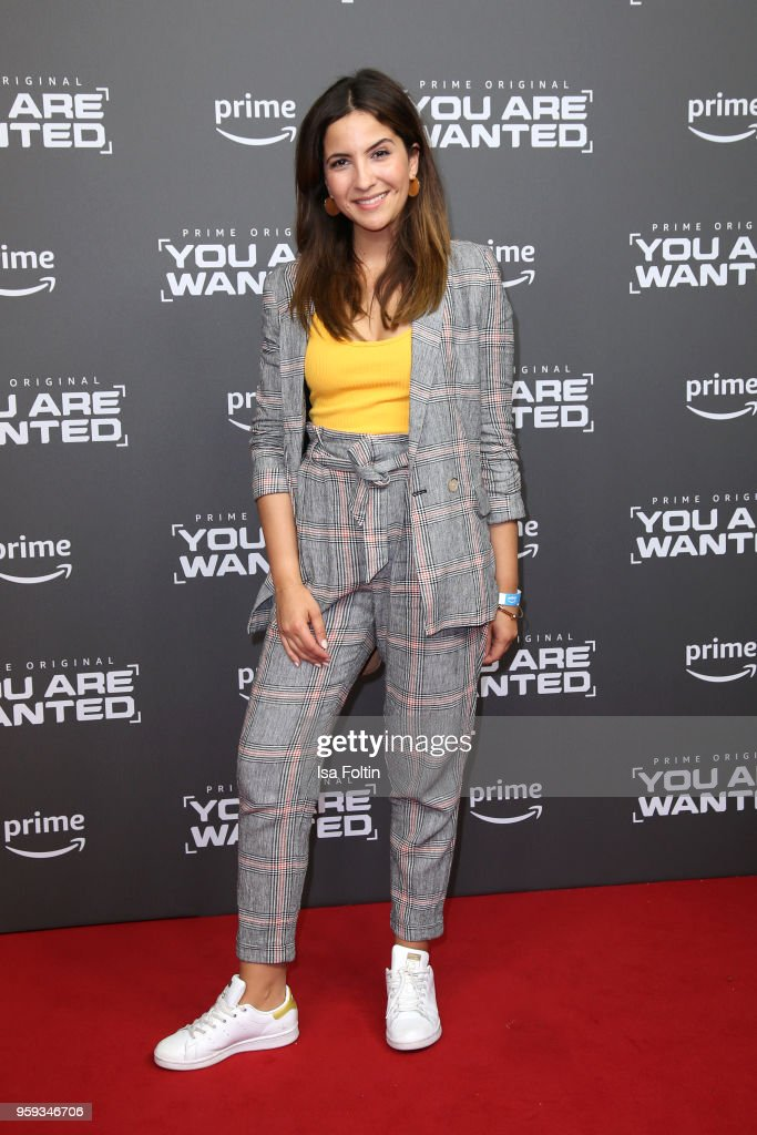 German actress Chryssanthi Kavazi attends the premiere of the second season of 'You are wanted' at Filmtheater am Friedrichshain on May 16, 2018 in Berlin, Germany.