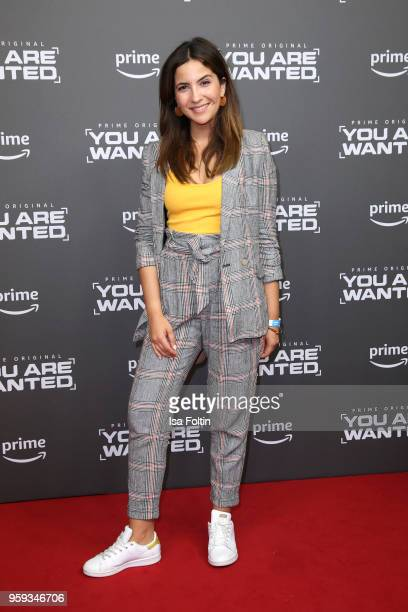 German actress Chryssanthi Kavazi attends the premiere of the second season of 'You are wanted' at Filmtheater am Friedrichshain on May 16 2018 in...