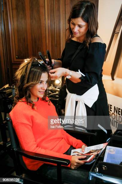 German actress Chryssanthi Kavazi during the Burda Style Lounge on the occasion of the German Film Ball on January 20 2018 in Munich Germany