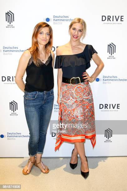 German actress Claudia Eisinger and German actress Julia Dietze during the 8th edition of the Berlin concert series 'Neue Meister' at Volkswagen...