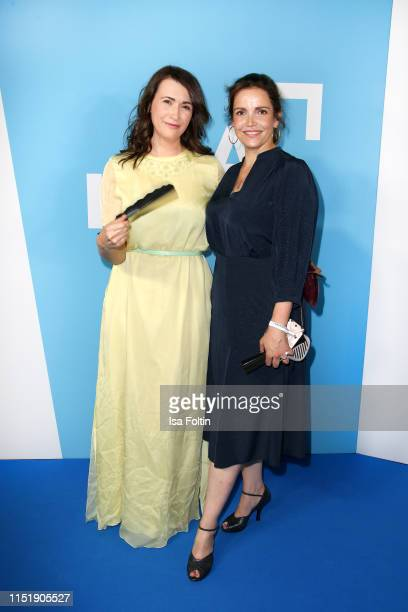 German actress Claudia Mehnert and German actress Rebecca Immanuel attend the summer party of the German Producers Alliance on June 25 2019 in Berlin...
