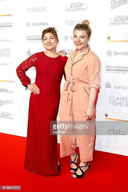 German actress Claudia Schmutzler and her daughter german actress Charley Ann Schmutzler attend the Goldene Henne on October 28 2016 in Leipzig...