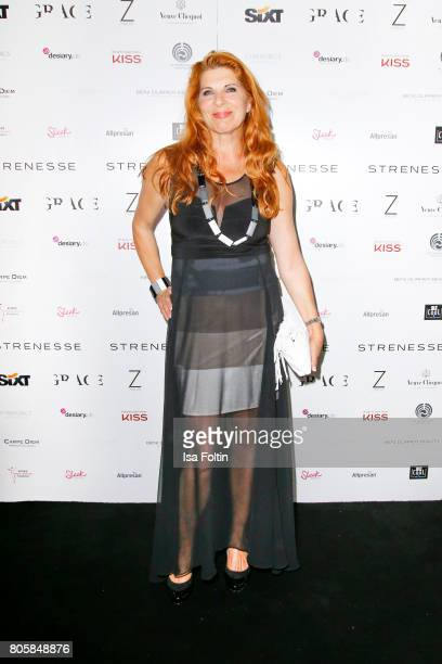 German actress Claudia Wenzel during the host of Annabelle Mandengs Ladies Dinner at Hotel Zoo on July 2 2017 in Berlin Germany