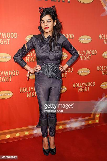 German actress Collien UlmenFernandes attends the Hollywood Superhero Fairytale Night hosted by Jens Hilbert on November 26 2016 in Darmstadt Germany