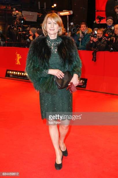 German actress Corinna Harfouch attends the 'Django' premiere during the 67th Berlinale International Film Festival Berlin at Berlinale Palace on...