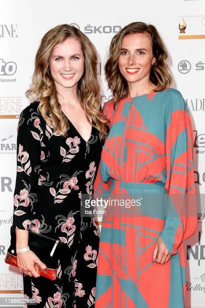 German actress Cornelia Groeschel and German actress Karin Hanczewski attend the Goldene Henne at Messe Leipzig on September 20 2019 in Leipzig...