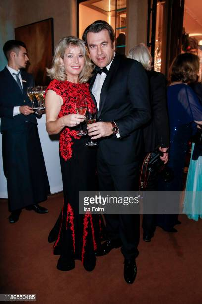German actress Cosima von Borsody and her partner Bernhard Hock during the Audi Generation Award 2019 at Hotel Bayerischer Hof on December 4 2019 in...
