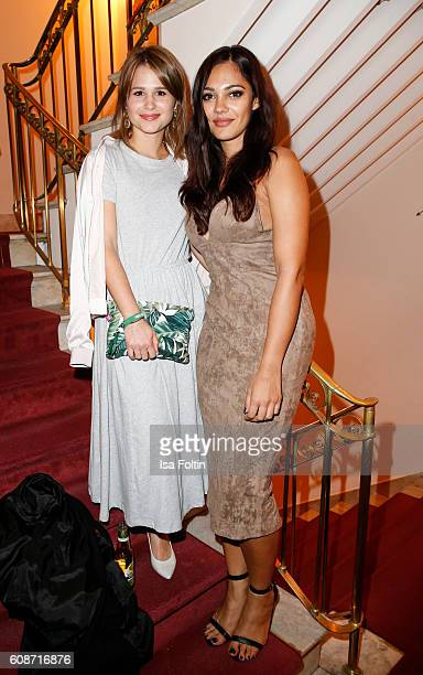 German actress Cristina Do Rego and german actress Nilam Farooq attend the First Steps Awards 2016 at Stage Theater on September 19, 2016 in Berlin,...