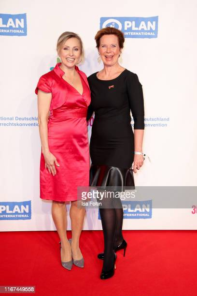 German actress Dana Golombek and German actress Marion Kracht attend the Ulrich Wickert Award for Childen's Rights at Tipi am Kanzleramt on September...