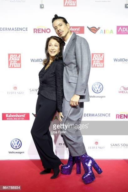German actress Daniela Ziegler and Jorge Gonzalez attend the 'Goldene Bild der Frau' award at Hamburg Cruise Center on October 21 2017 in Hamburg...