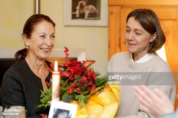 German actress Daniela Ziegler and Vita founder Tatjana Kreidler during the Vita Christmas Party on December 17, 2017 in UNSPECIFIED, Germany.