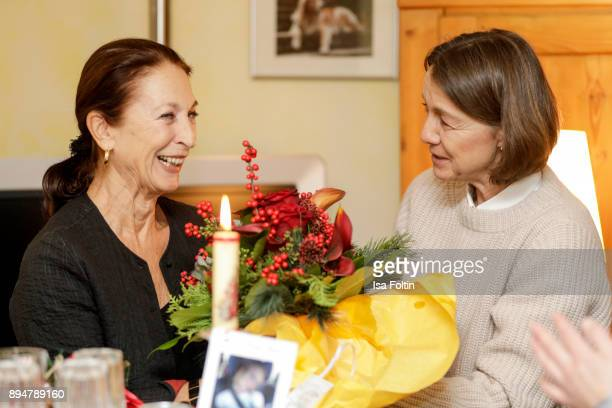 German actress Daniela Ziegler and Vita founder Tatjana Kreidler during the Vita Christmas Party on December 17 2017 in UNSPECIFIED Germany