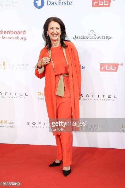 German actress Daniela Ziegler attends the Lola German Film Award red carpet at Messe Berlin on April 27 2018 in Berlin Germany