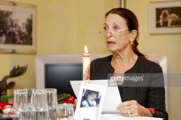 German actress Daniela Ziegler reads a Christmas story during the Vita Christmas Party on December 17, 2017 in UNSPECIFIED, Germany.