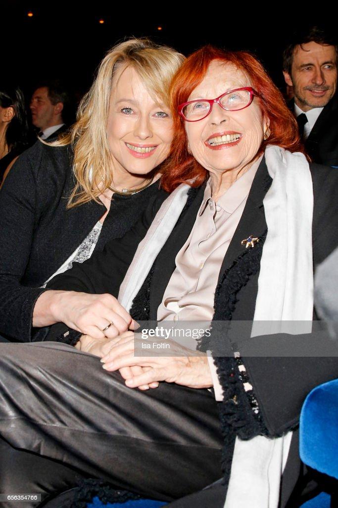 German actress Debora Weigert and her mother german actress and producer Brigitte Grothum attend the Deutscher Hoerfilmpreis at Kino International on March 21, 2017 in Berlin, Germany.