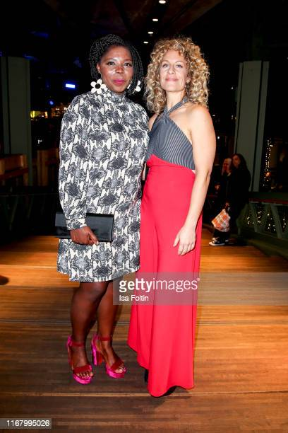 "German actress Dela Dabulamanzi and German actress Alessija Lause at the award ceremony of the ""Deutscher Schauspielpreis"" at Zoo Palast on September..."