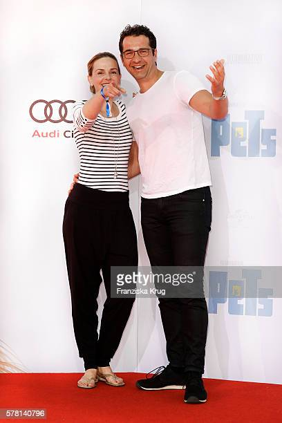 German actress Denise Zich and her boyfriend german actor Andreas Elsholz attend the premiere of the film 'PETS' at CineStar on July 20 2016 in...