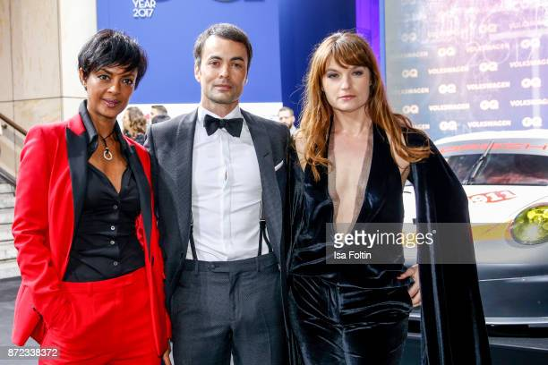 German actress Dennenesch Zoude, German actor Nikolai Kinski and his girlfriend Ina Paule Klink arrive for the GQ Men of the year Award 2017 at...