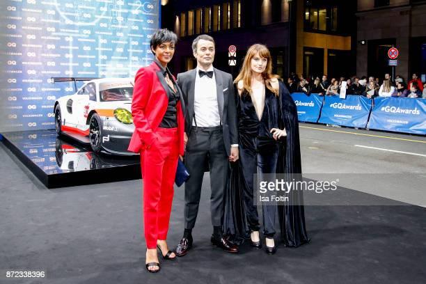German actress Dennenesch Zoude German actor Nikolai Kinski and his girlfriend Ina Paule Klink arrive for the GQ Men of the year Award 2017 at...