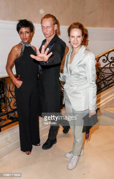 German actress Dennenesch Zoude German actor Victor Schefe and German actress Chiara Schoras attend the Medienboard BerlinBrandenburg Reception on...
