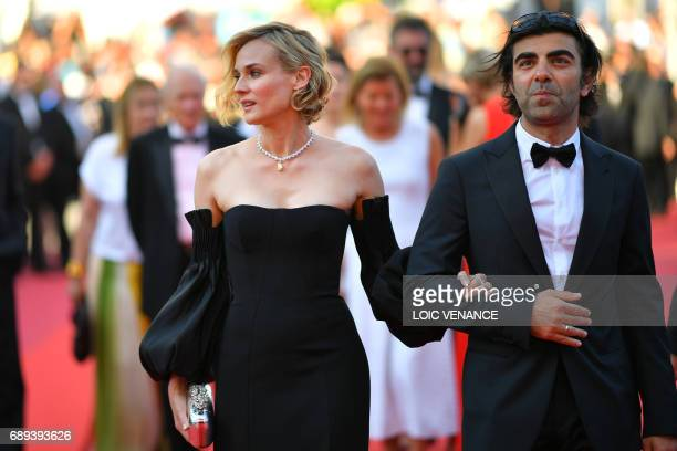 German actress Diane Kruger and German director Fatih Akin arrive on May 28 2017 for the closing ceremony of the 70th edition of the Cannes Film...