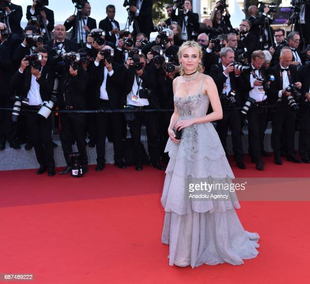 German actress Diane Kruger arrives for the 70th Anniversary Ceremony of Cannes Film Festival in Cannes France on May 23 2017