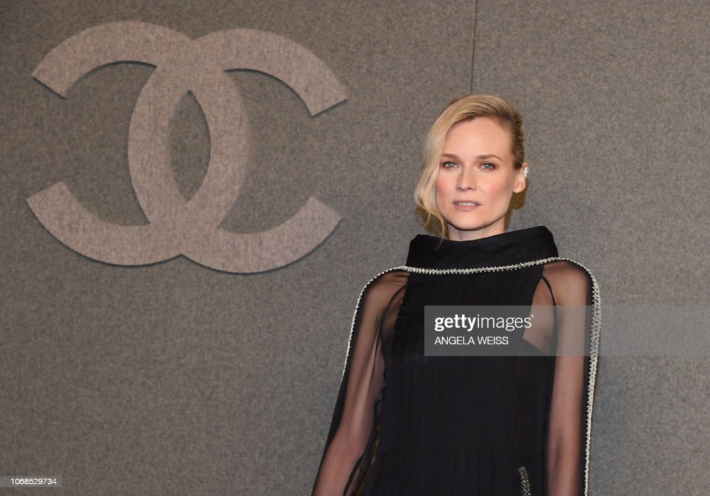 c6e170c3d9a German actress Diane Kruger attends the Chanel Metiers D Art 2018 19 ...