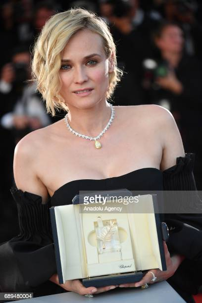 German actress Diane Kruger poses during the Award Winners photocall after she won the Best Actress Prize for Aus dem Nichts at the 70th annual...