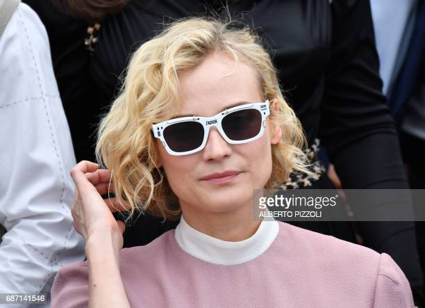 German actress Diane Kruger poses on May 23 2017 during a photocall for the '70th Anniversary' of the Cannes Film Festival in Cannes southern France...